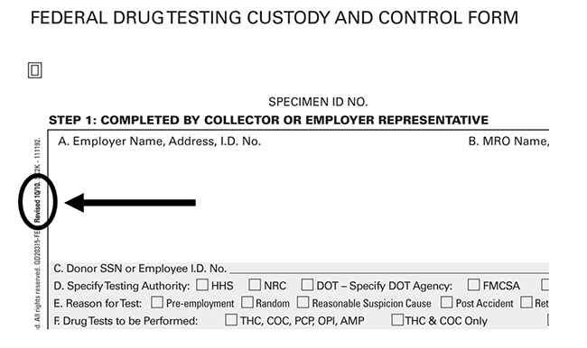 drug Escort test random for