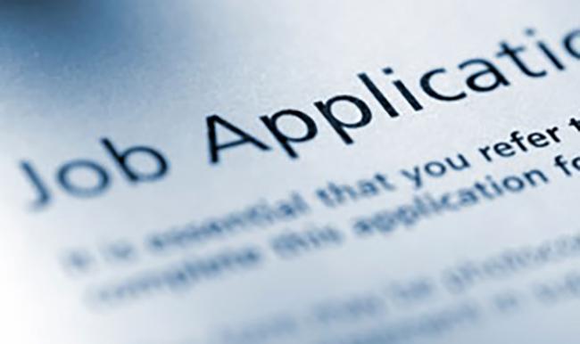 Image of a job application form