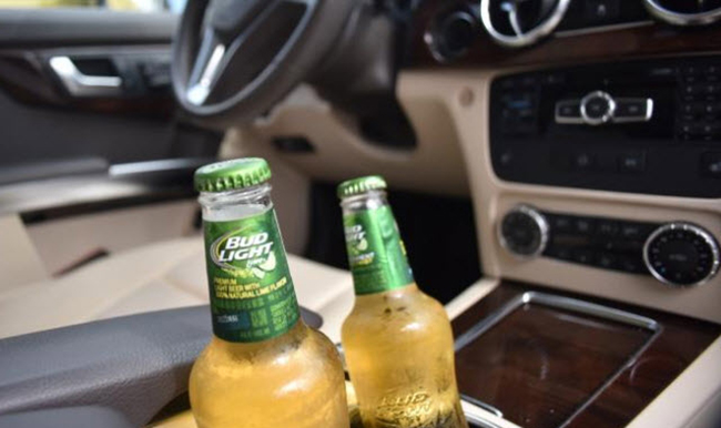 beer in the car