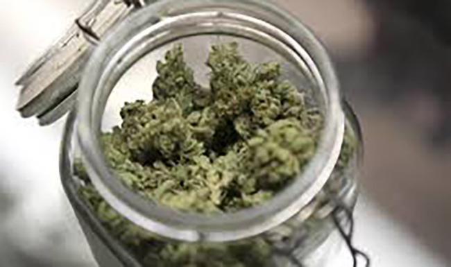 jar of marijuana