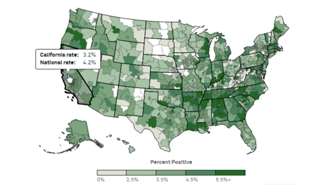 Mapping Drug Use in the US Workforce Quest Diagnostics