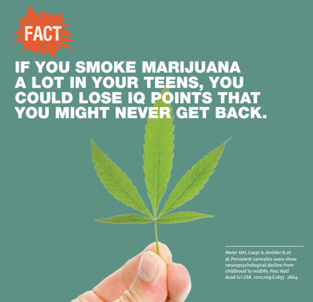 NIDA marijuana fact
