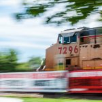 fast-moving train
