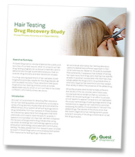 Hair testing drug recovery study
